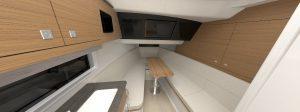 Boston Whaler 380 Realm cabina