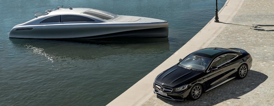 Barche a motore e supercar mercedes
