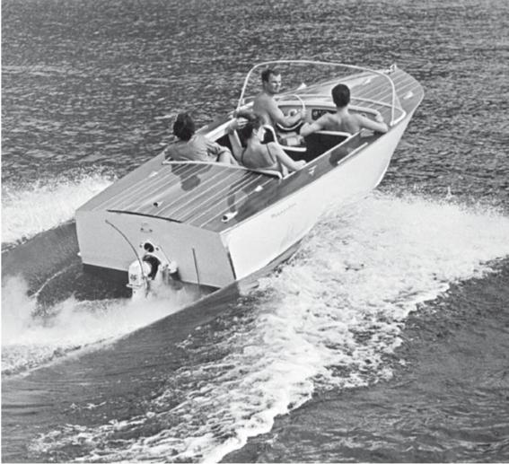 barche a motore med boat anni 50 scafo