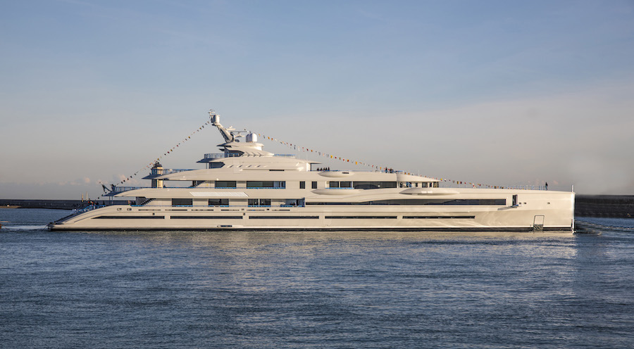 The Biggest Yacht Ever Launched In Italy Benetti S 107 Meters Yacht