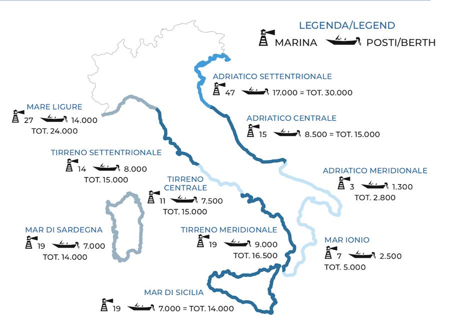 mappa posti barca in italia