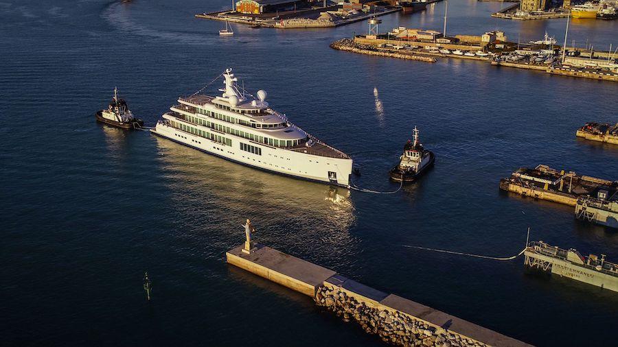 Il varo dell'FB272, superyacht di Benetti