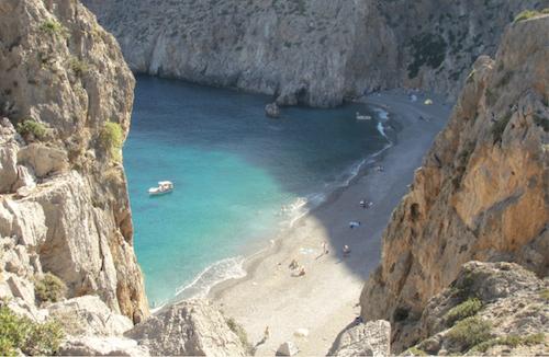 Baia di Kali Limenes a Creta