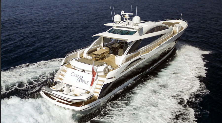 yacht james bond casino royale